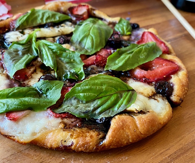 Incredible Red, White and Blue Pizza